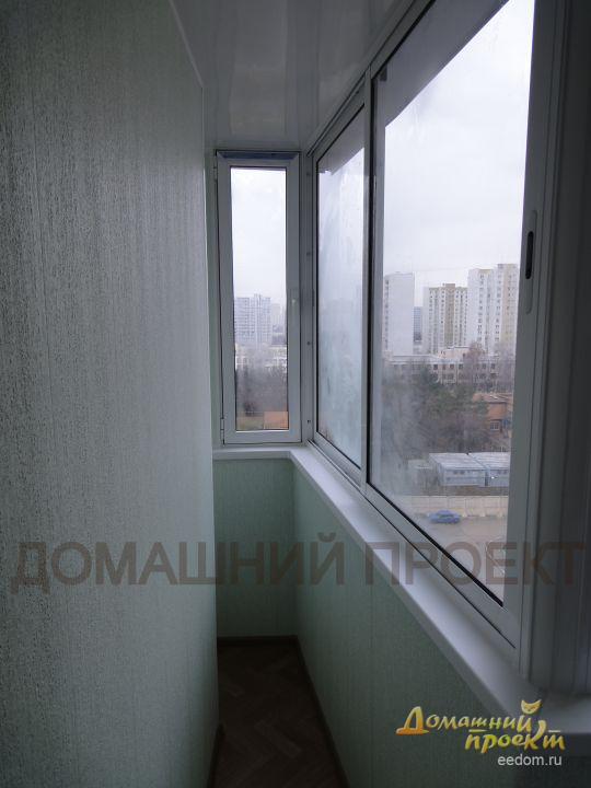 Внутренняя отделка балкона дома серии п 3м.