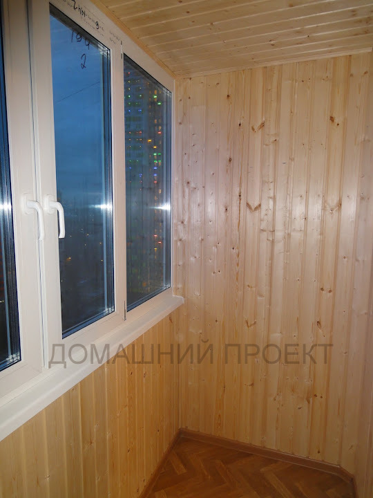 Обшивка балкона 3м вагонкой цена..