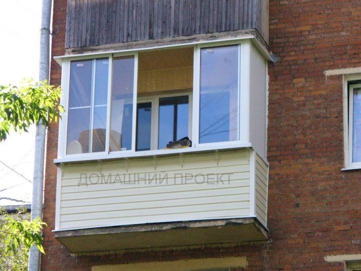 Остекление балкона в пятиэтажке фото..