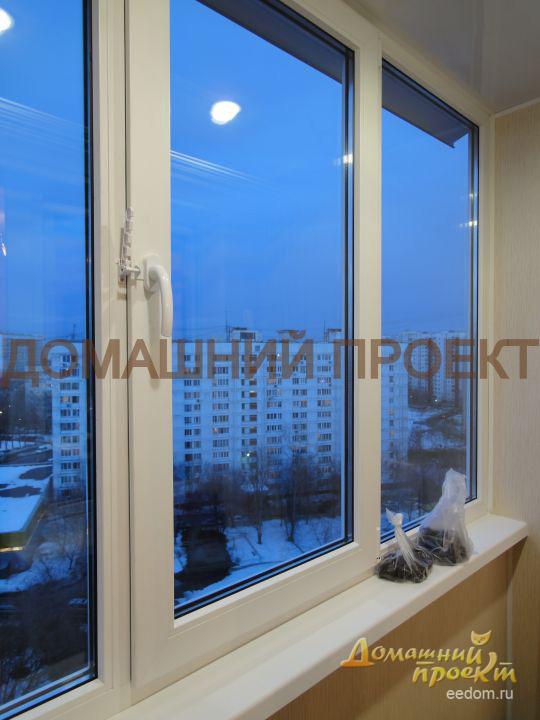 Пластиковые окна для балкона и лоджии - домашний проект.