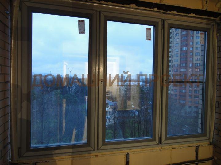 Остекление квартиры цветными окнами
