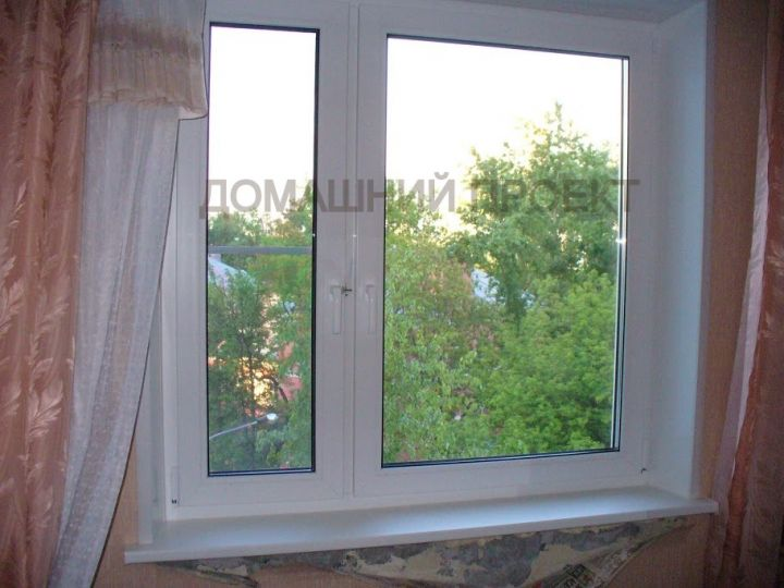 Пластиковое окно Рехау под ключ в квартире