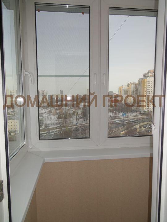 Застекление балкона П3