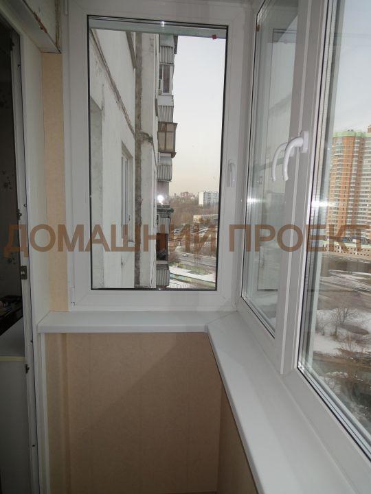 Остекление и отделка балкона П-3