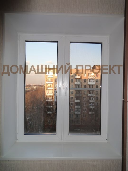 Пластиковое окно с широкими откосами