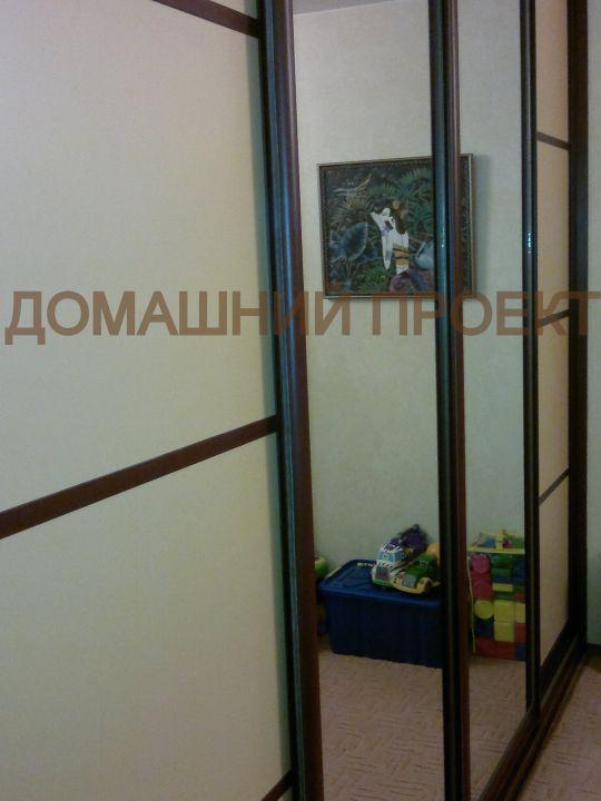 Шкаф-купе для гостиной с комбинированными дверями