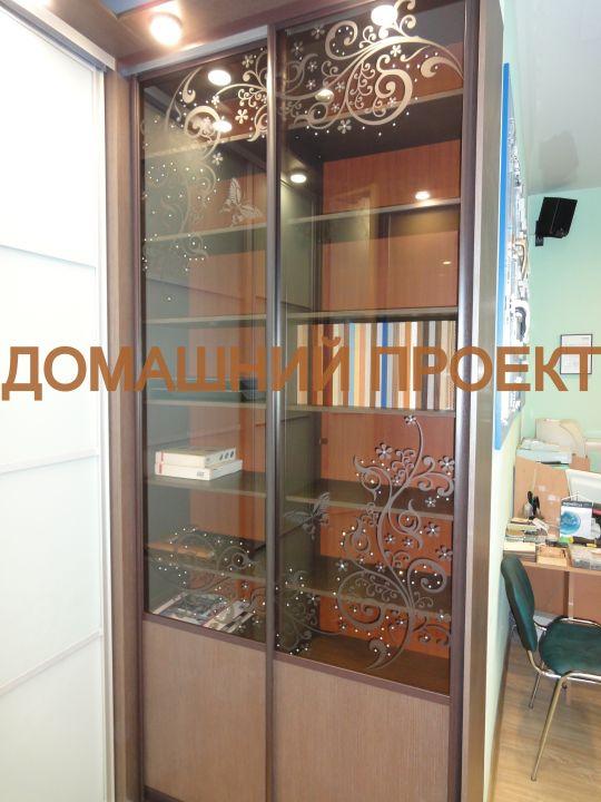 Шкаф-купе для гостиной со стразами