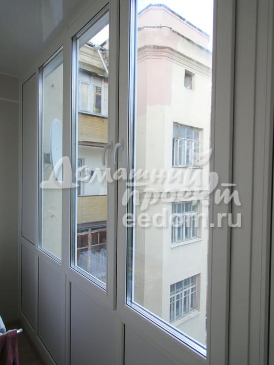 Остекление балкона на ул. Верхняя Красносельская