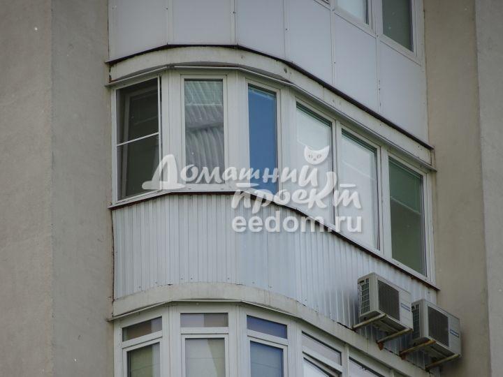 Балкон с внешней отделкой 300616/4