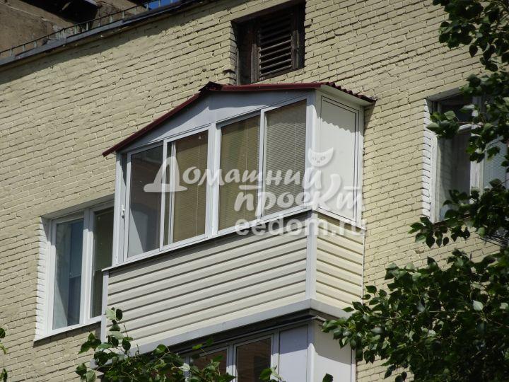Балкон с внешней отделкой 300616/6