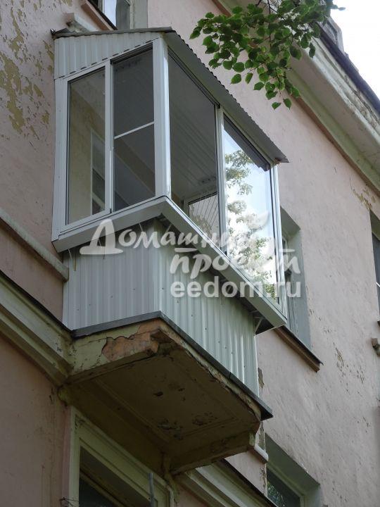 Балкон с внешней отделкой 300616/9