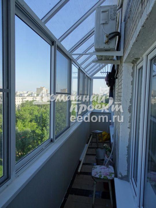Балкон с прозрачной крышей 300616/2