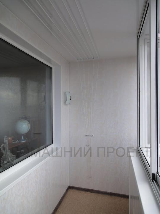 Отделка балкона п-44 пластиком