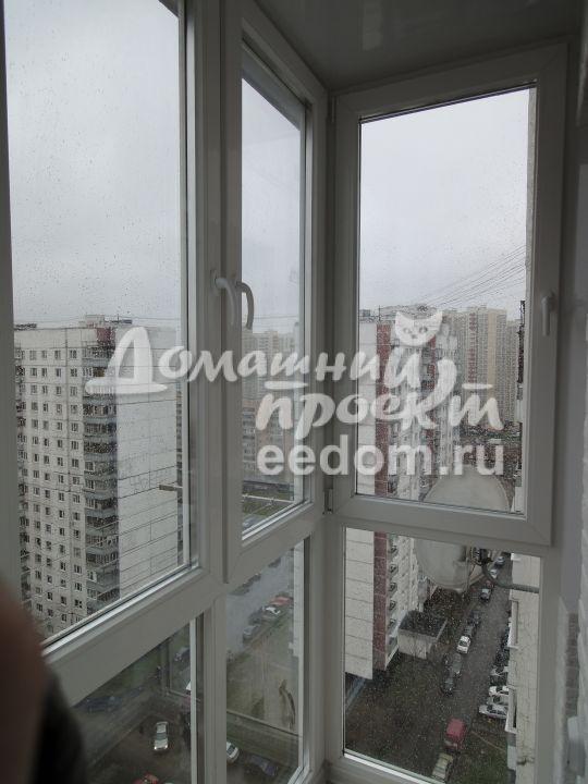 Остекление балкона от пола до потолка 12