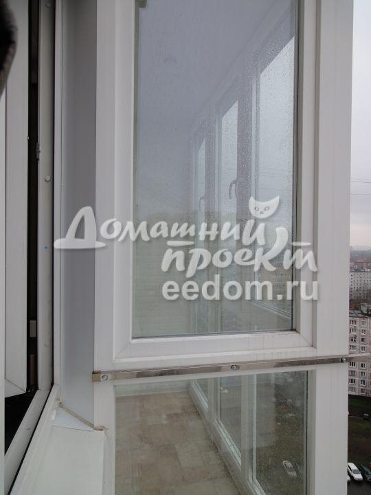 Остекление балкона от пола до потолка 14
