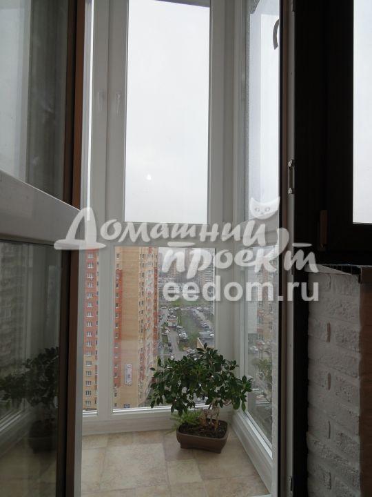Остекление балкона от пола до потолка 16