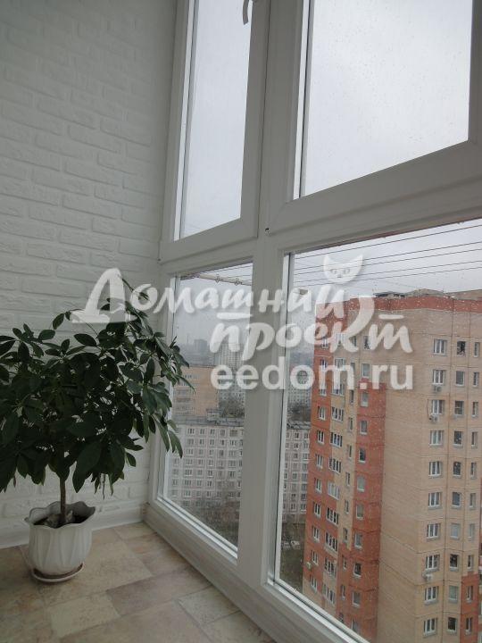 Остекление балкона от пола до потолка 17