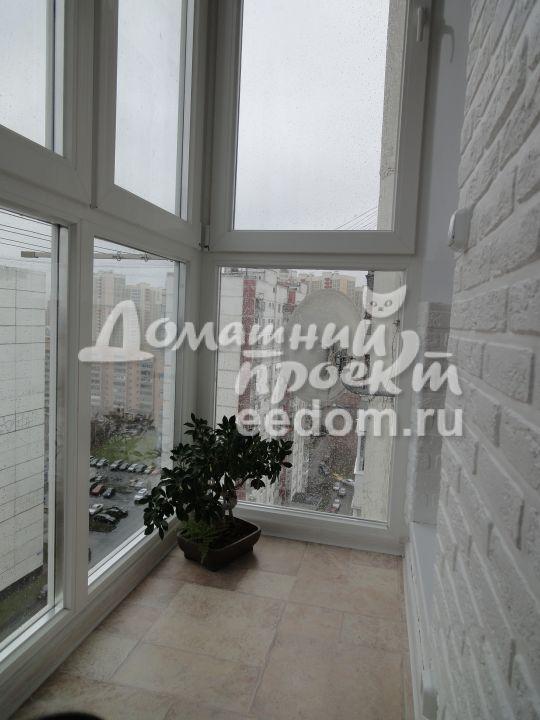 Остекление балкона от пола до потолка 18