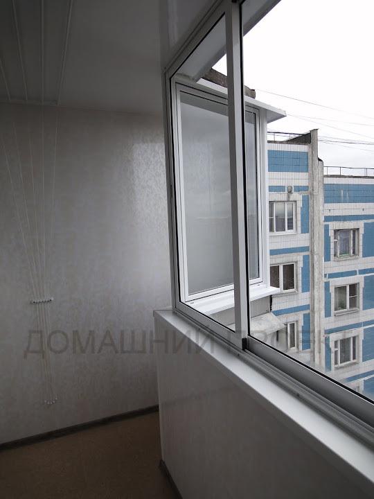 Обшивка балкона п-44 пластиком