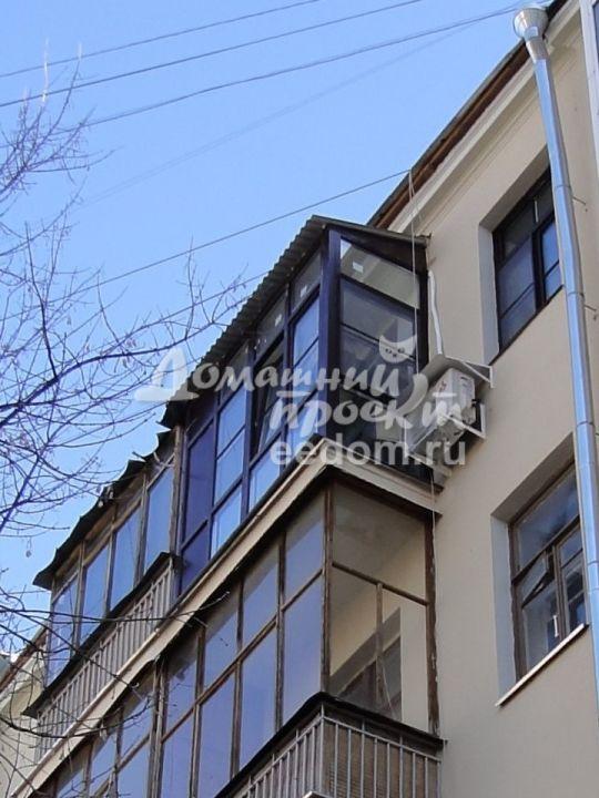 Остекление от пола до потолка с крышей 4