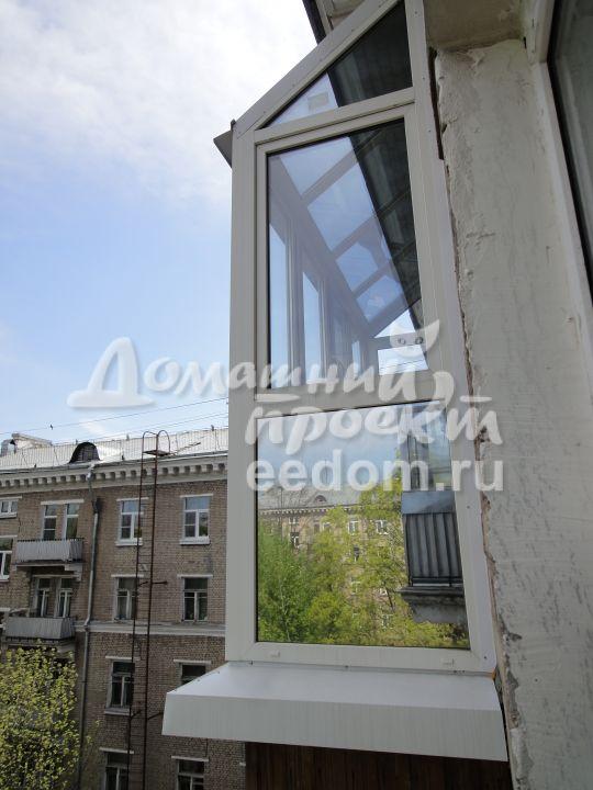 Остекление с прозрачной крышей - ул. Кошкина 5