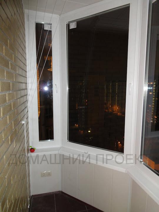 ПВХ отделка балкона в монолитно-кирпичном доме