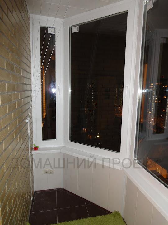 ПВХ обшивка балкона в монолитно-кирпичном доме