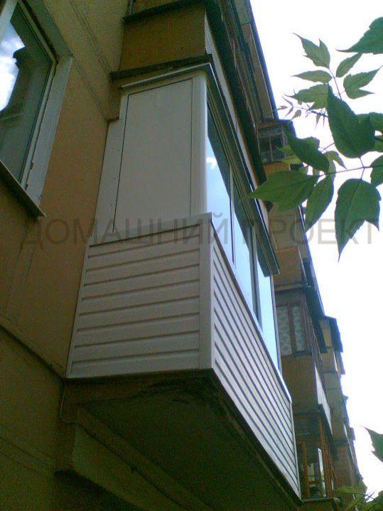 Отделка балкона сайдингом в хрущевке