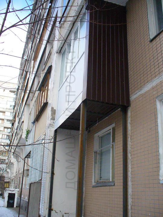 Пример пристроенного балкона