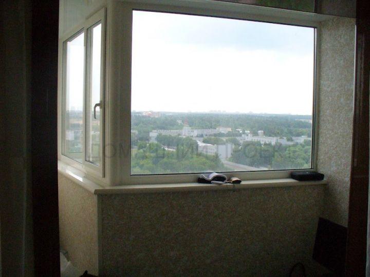 Застекление балкона под ключ с отделкой
