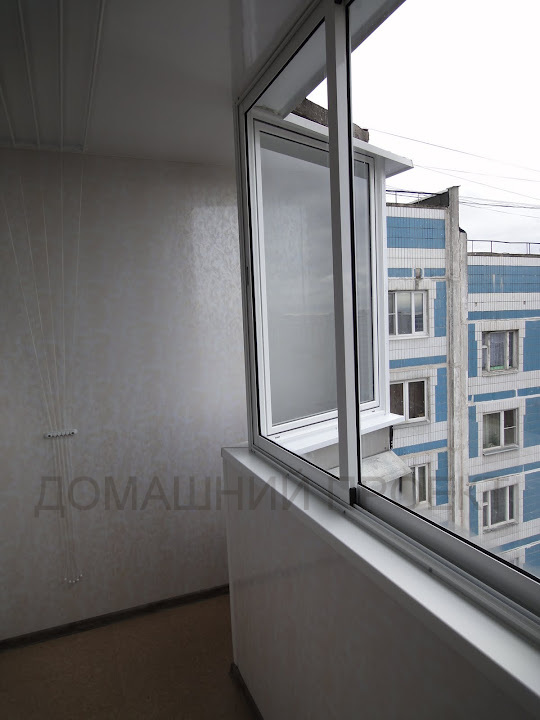 Остекление балкона профилем из алюминия