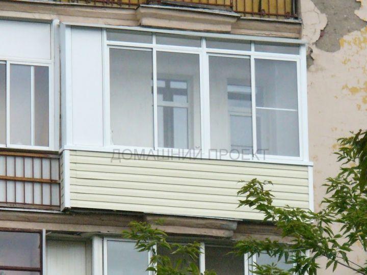 Остекление балкона алюминием и внешняя отделка