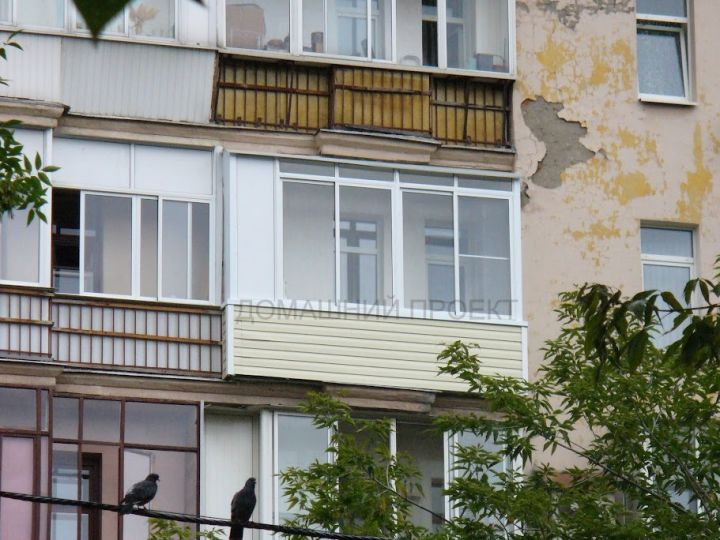 Внешняя обшивка балкона в сталинском доме