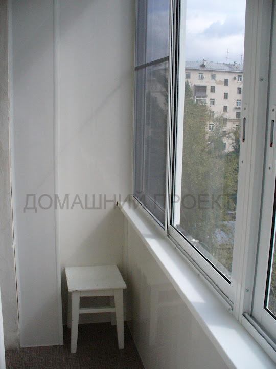 Пластиковая отделка балкона в сталинском доме . отделка балк.