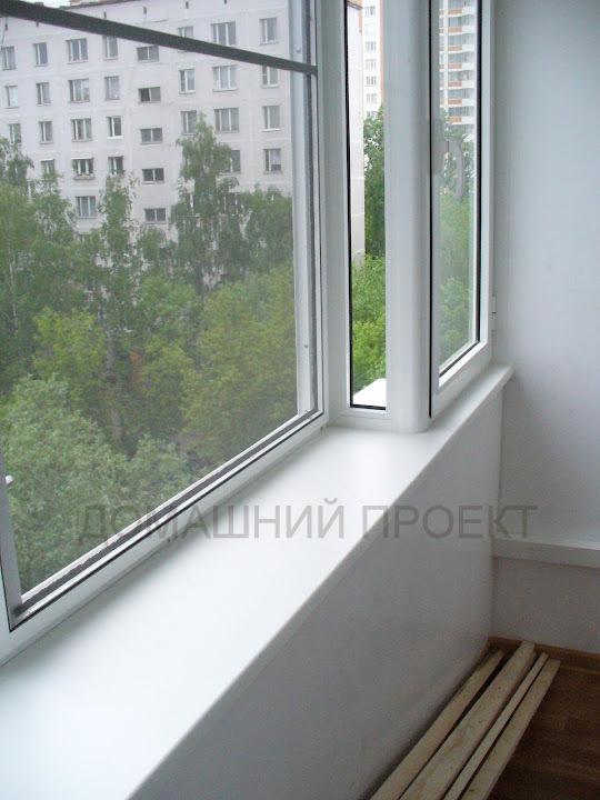 ПВХ обшивка балкона с выносным остеклением