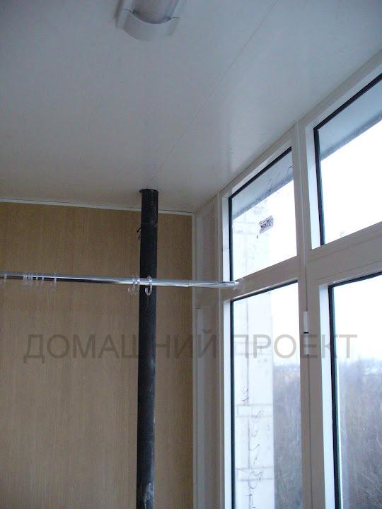Обшивка балкона II-18 панелями ПВХ