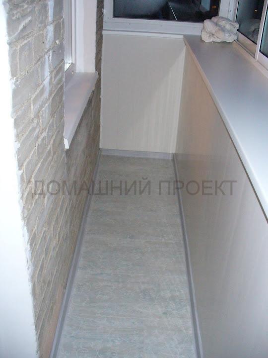 Отделка сталинского балкона пластиковыми панелями