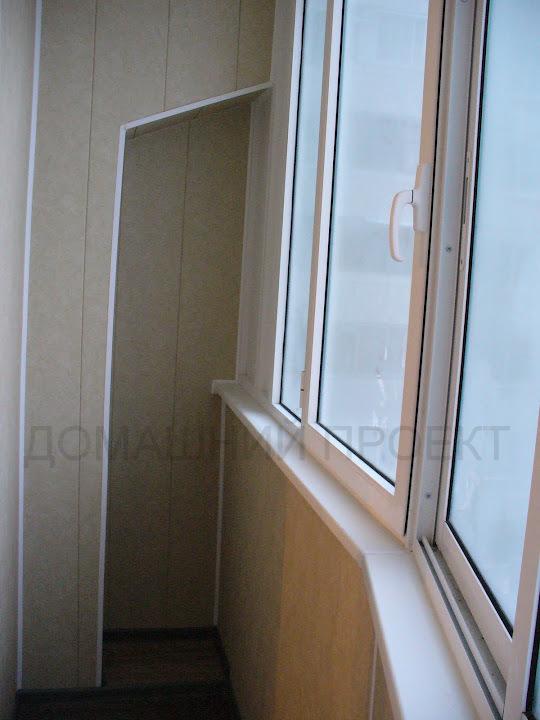 Пластиковая отделка балкона типа утюжок. отделка балконов па.
