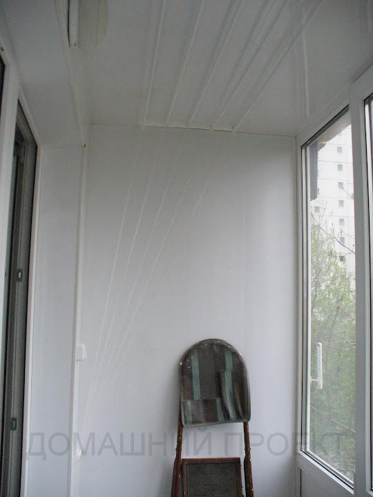 Пластиковая отделка в пристроенном балконе