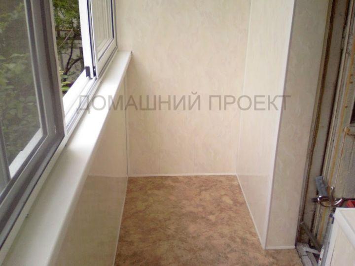 Отделка балкона II-18 пластиковыми панелями