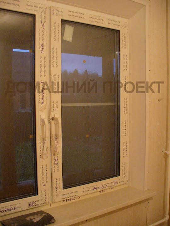 Окна ПВХ в коттедже
