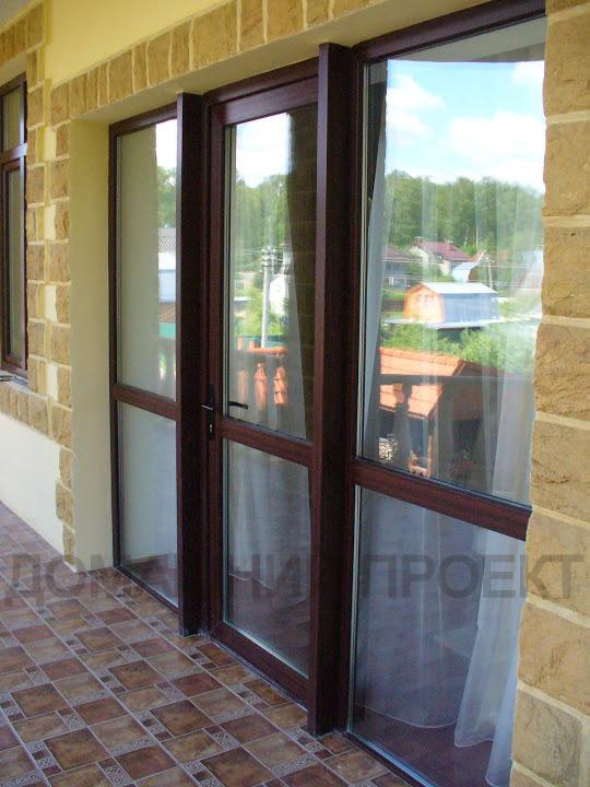 Ламинированные пластиковые двери из профиля Рехау