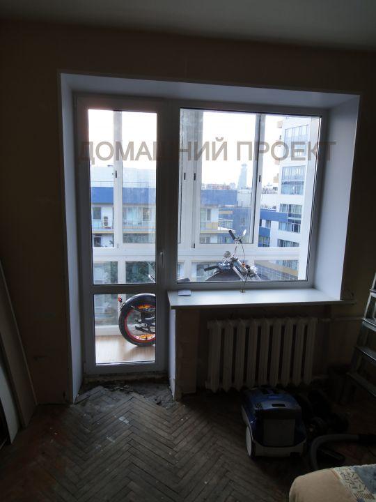 Монтаж балконных блоков ПВХ