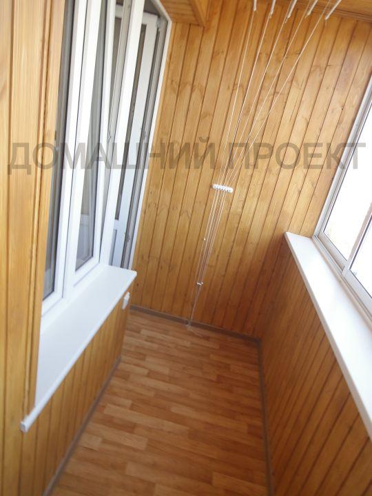 Отделка балкона и-522а деревянной вагонкой