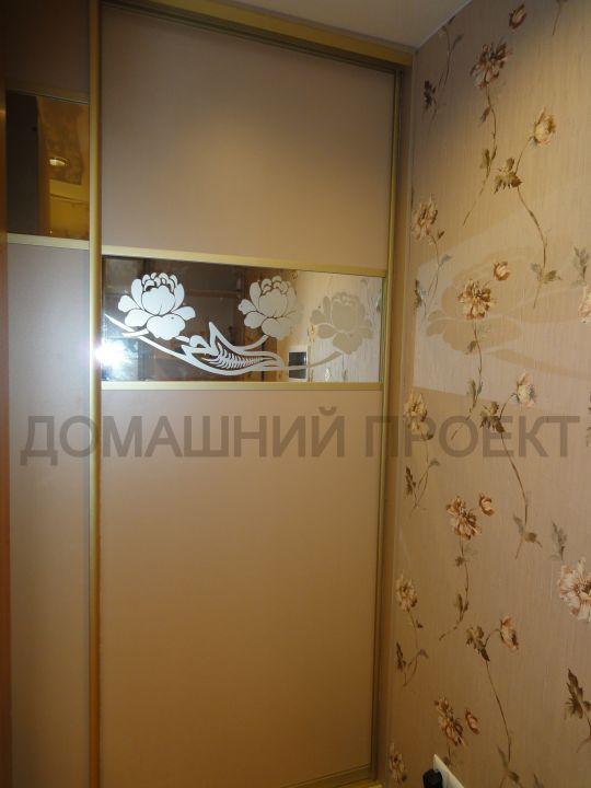 Шкаф-купе декорированный пескоструйным рисунком
