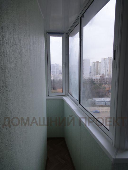 Отделка и остекление балкона п 3м