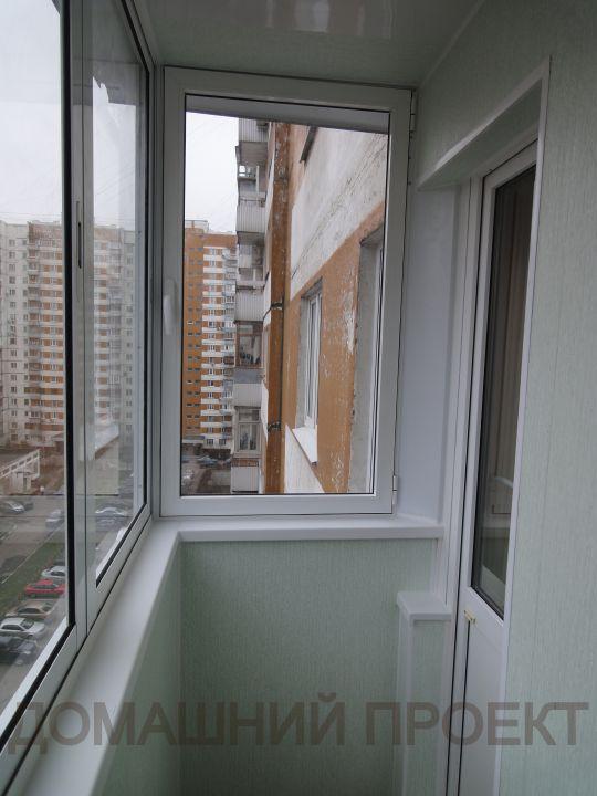 Холодное остекление и отделка балкона