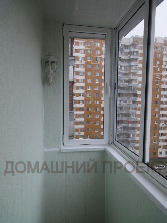 Остекление балкона алюминиевым профилем и отделка