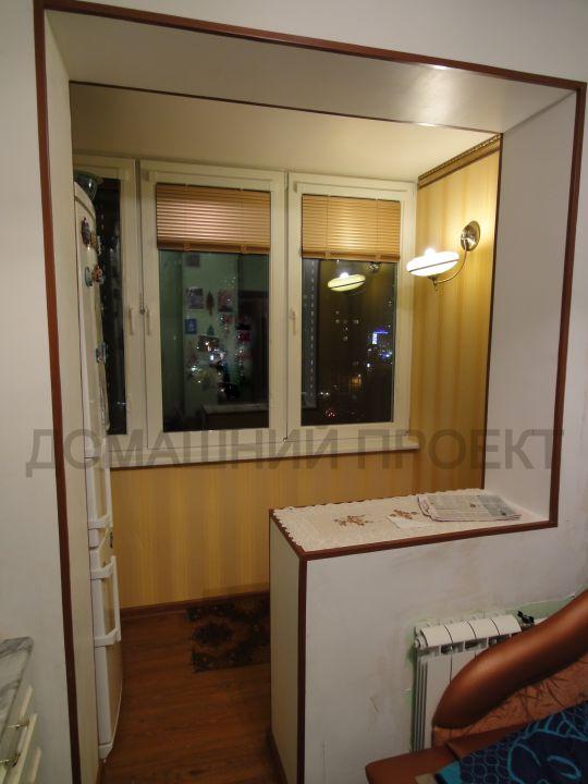 Остекление и отделка балкона серии п-46