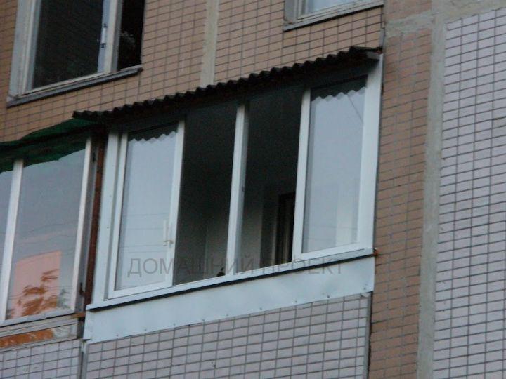 Остекление балкона п-46